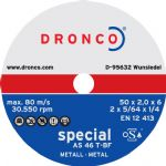 Dronco 'Perfect' & 'Special' Metal Cutting Discs